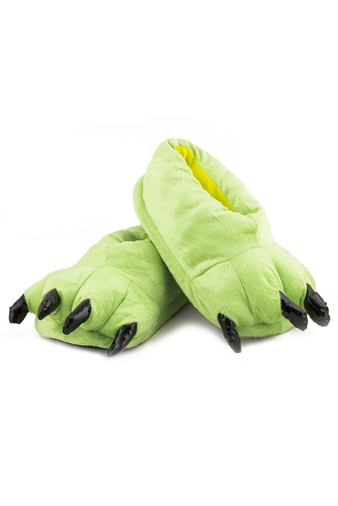 Светло-зеленые мягкие лапы - Обувь для костюмов