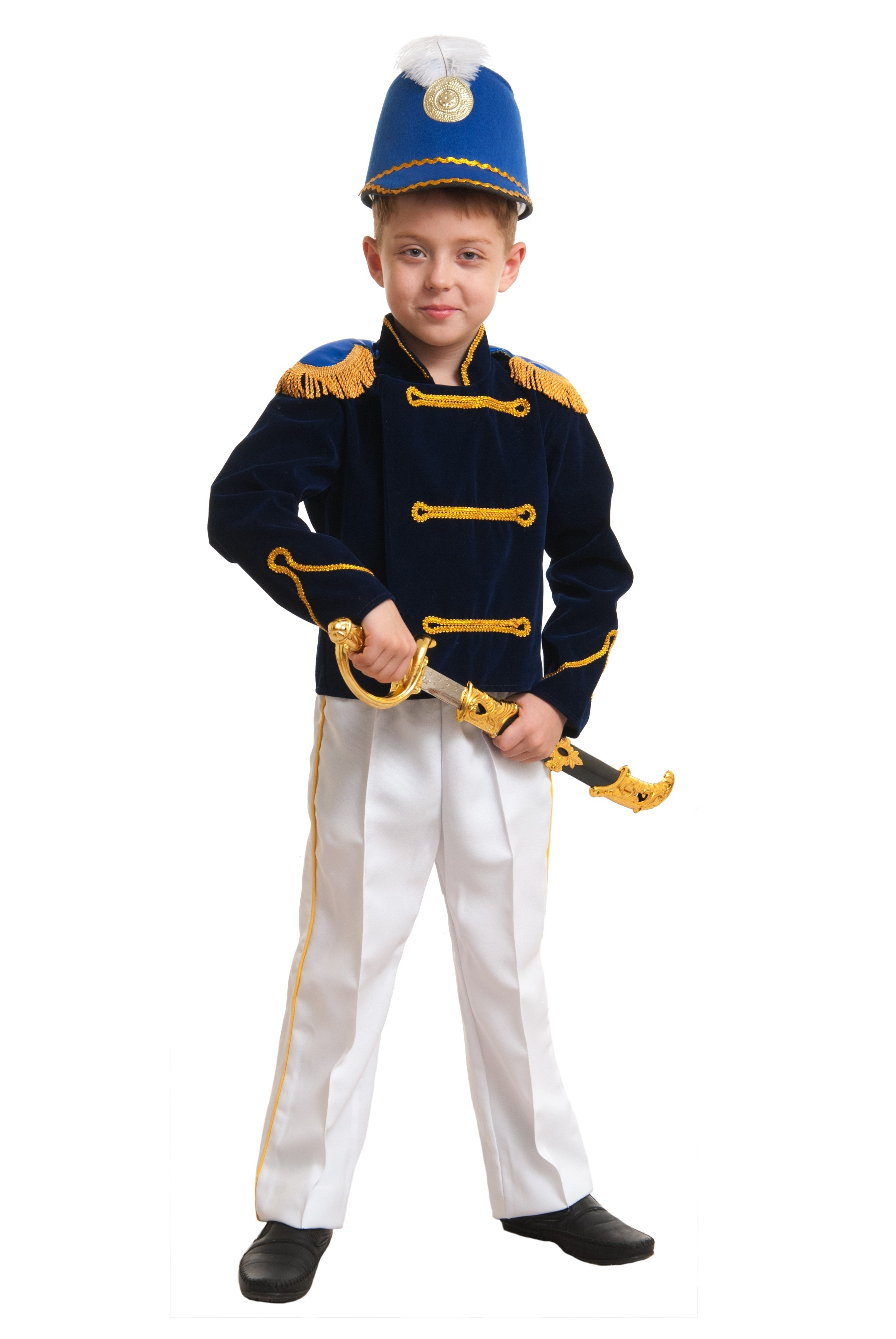 Гусарский детский костюм (38) детский костюм клоуна весельчака 38