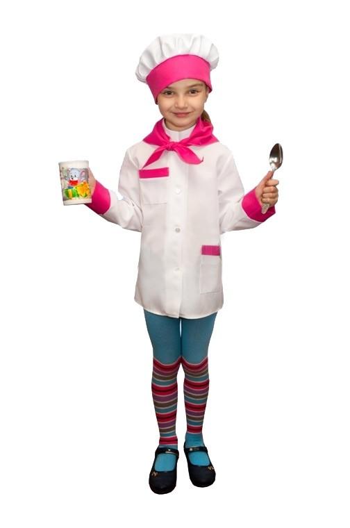 Костюм повара девочки (28-30) детский костюм маленького повара 22 24