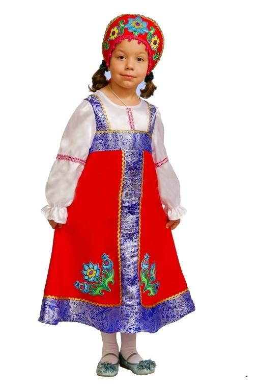 Костюм маленькой русской красавицы (28) - Национальные костюмы, р.28