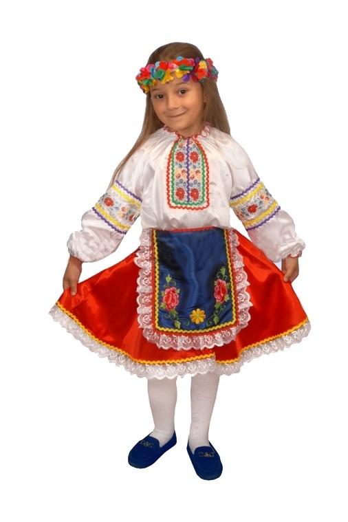 Костюм украинской девочки (34) детский костюм озорного клоуна 34