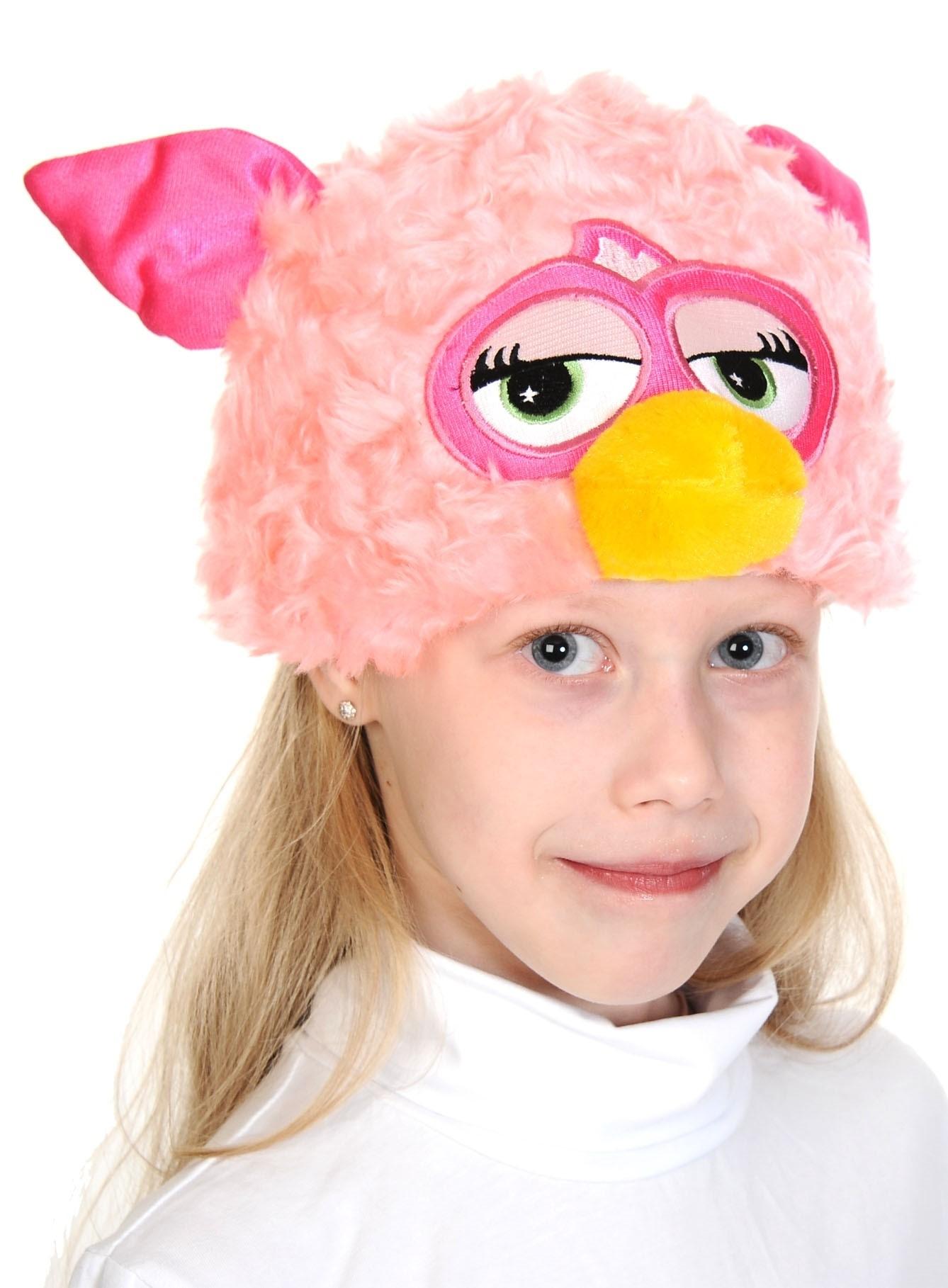 Розовая шапочка-маска Ферби (UNI) розовая шапочка с сердечками ферби uni