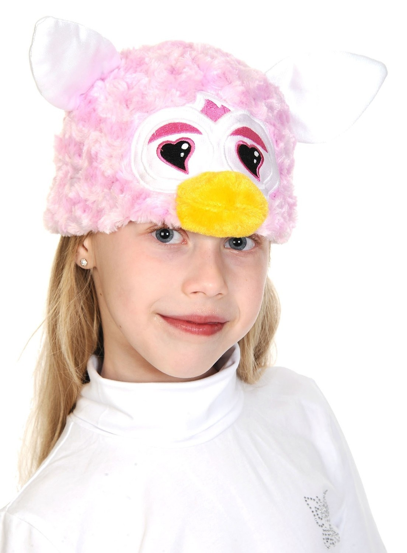Розовая шапочка с сердечками Ферби (UNI) шапочка маска ферби черная uni