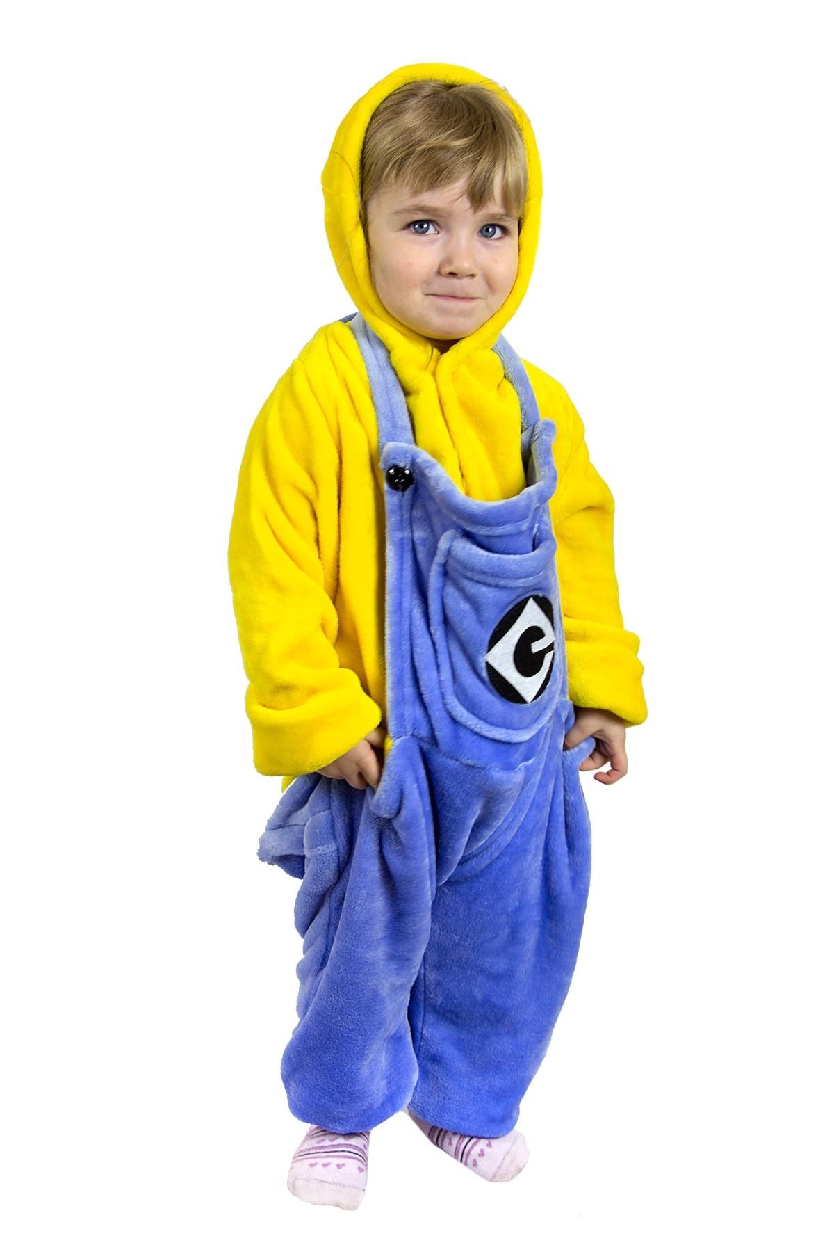 Детская пижама Кигуруми Миньон (28) детская пижама кигуруми хрюшка 26