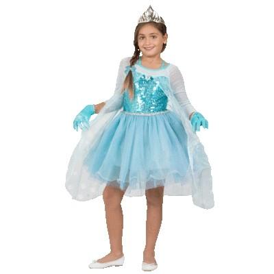 Изящный костюм Эльзы Frozen (30)