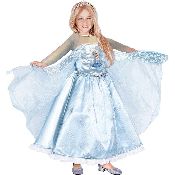 Атласное платье Эльзы из Frozen (30) - Сказочные герои, р.30