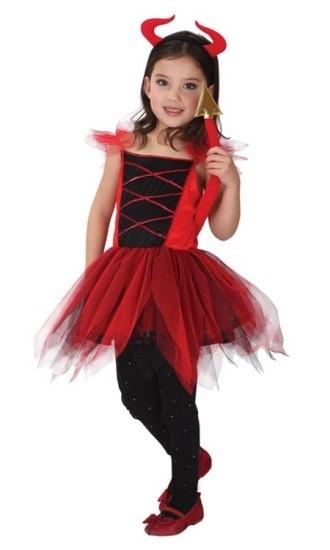 Детский костюм озорного чертенка (S)