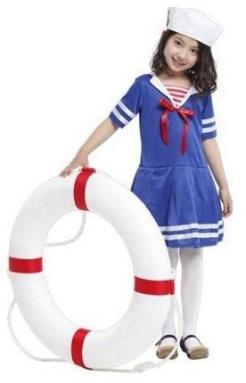 Детский костюм веселой морячки (L)