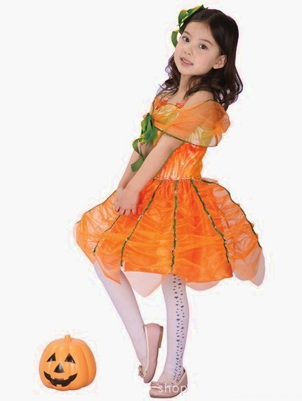 Детский костюм тыквочки (L) - Аксессуары на Хэллоуин
