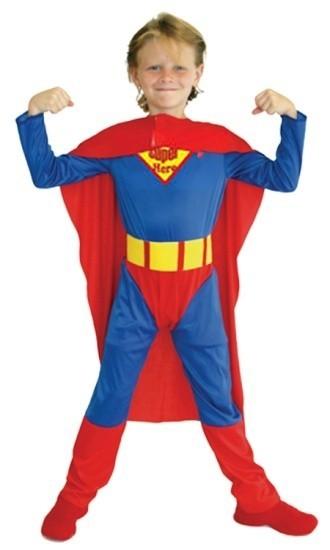 Детский костюм непобедимого Супермена (34-36) детский костюм озорного клоуна 34