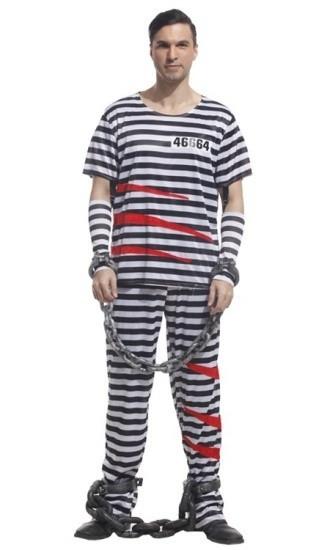 Костюм тюремного заключенного (M)