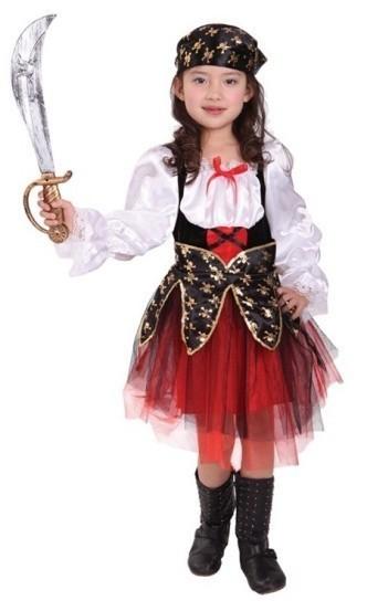Детский костюм опасной пиратки (34-36) детский костюм озорного клоуна 34