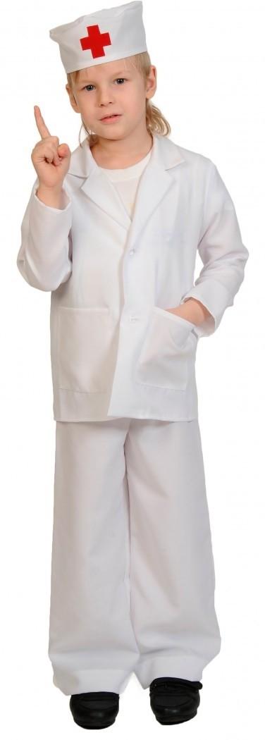 Детский костюм юного доктора (30-32) детский костюм супермен 30