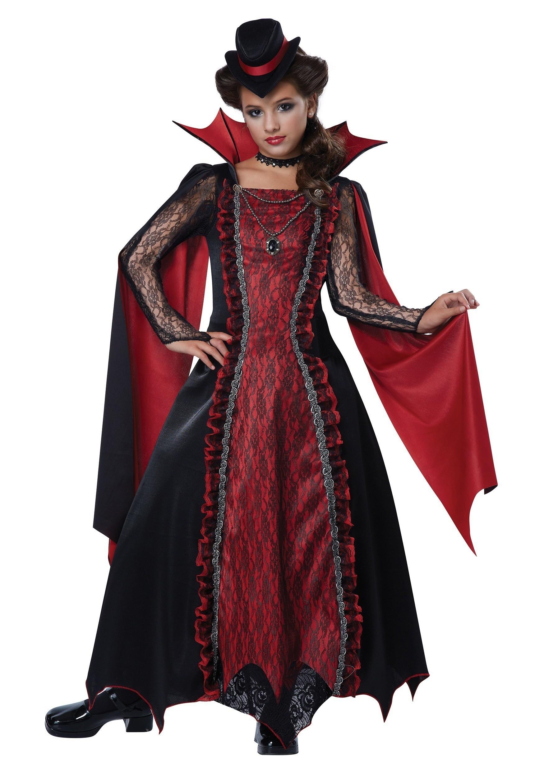 Детский костюм викторианской вампирши (38)