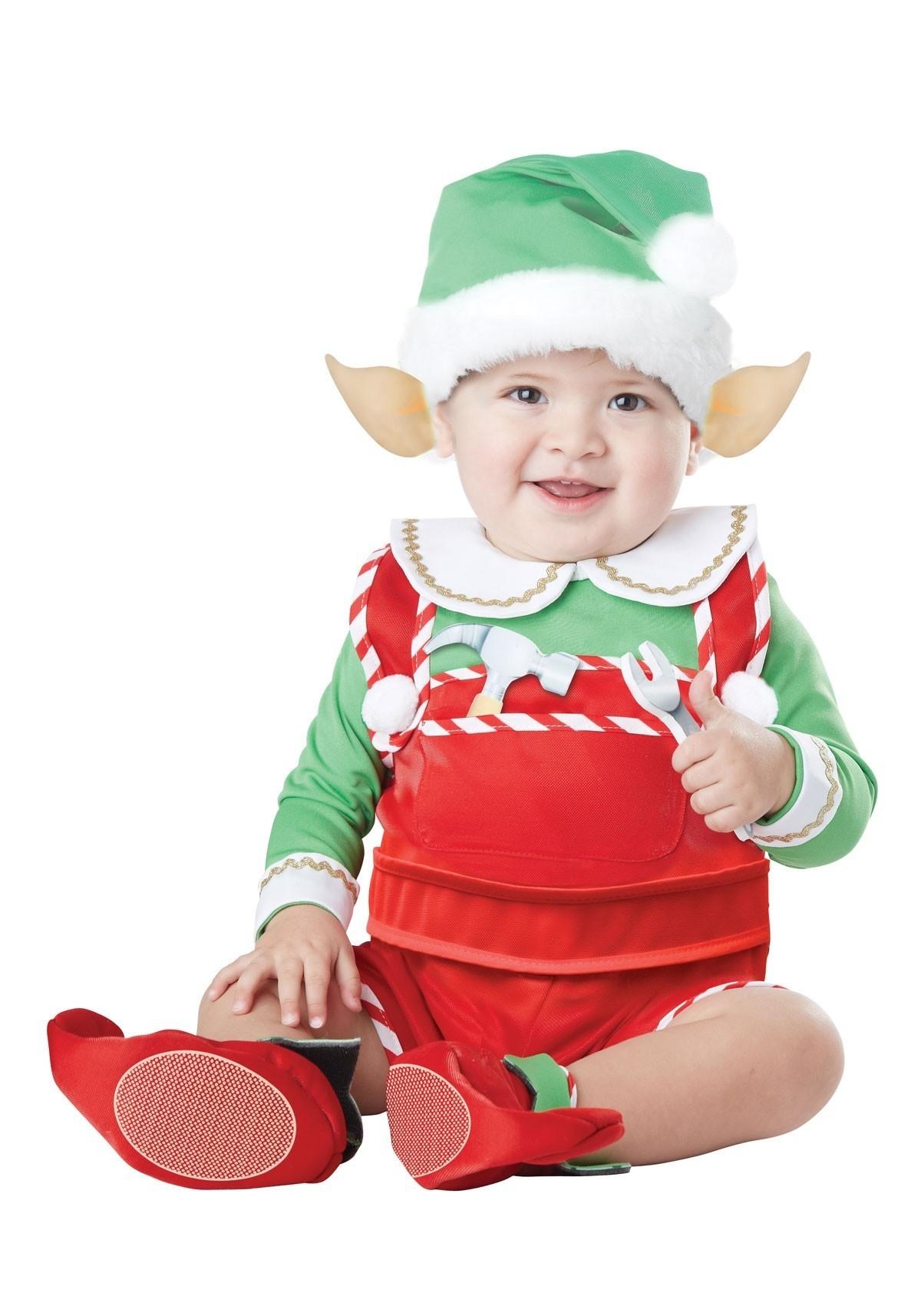 Костюм рождественского Эльфа для малышей (от 18 до 24 мес) - Новогодние костюмы