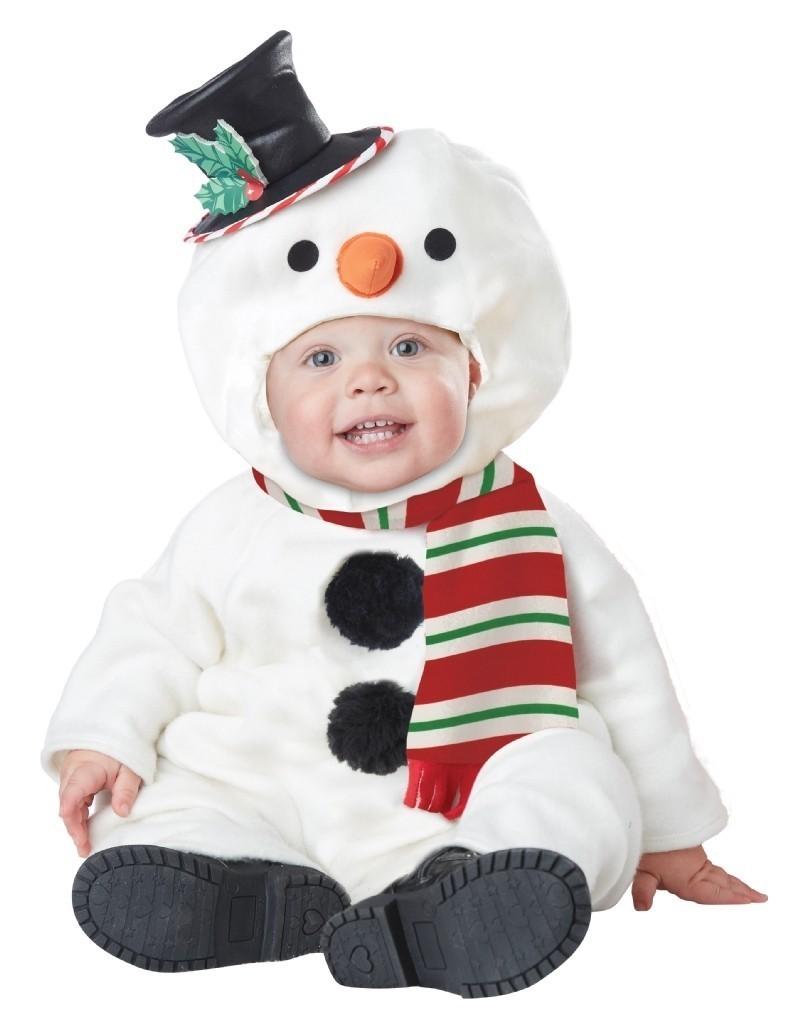 Костюм забавного снеговика для малышей (от 18 до 24 мес)