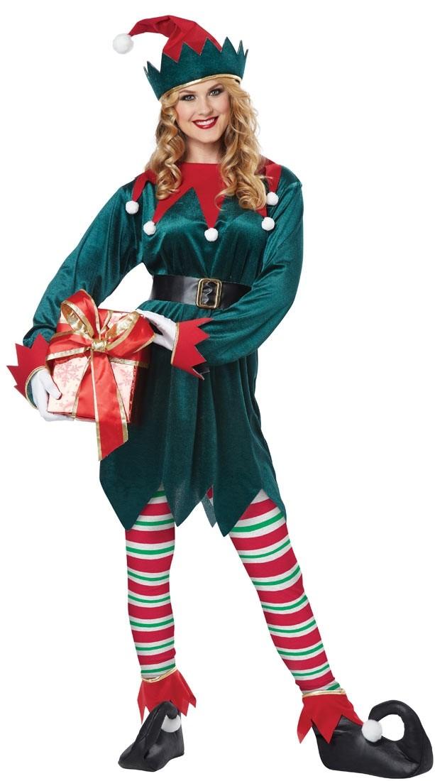 Костюм веселого Рождественского Эльфа (44) - Новогодние костюмы, р.44