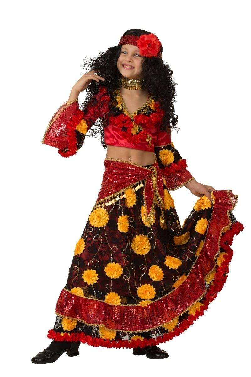 Детский красный костюм цыганки (34) костюм цыганки 48