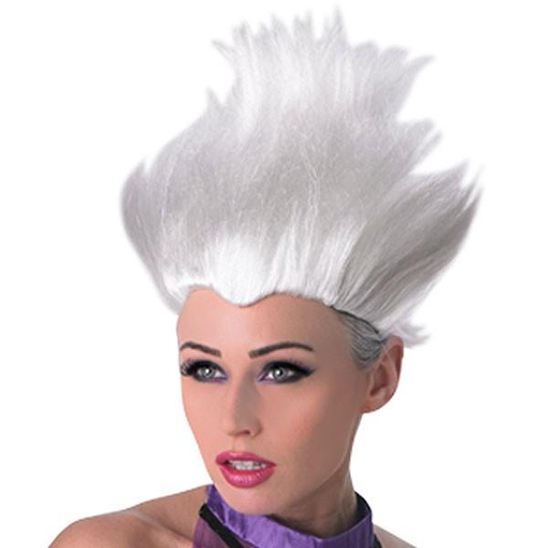 Белый парик Урсулы (UNI) фиолетовый парик дамочки uni