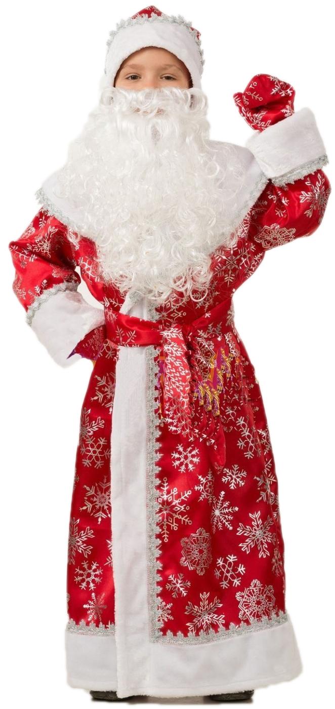Детский костюм Деда мороза (34) детский костюм деда мороза голубой 38