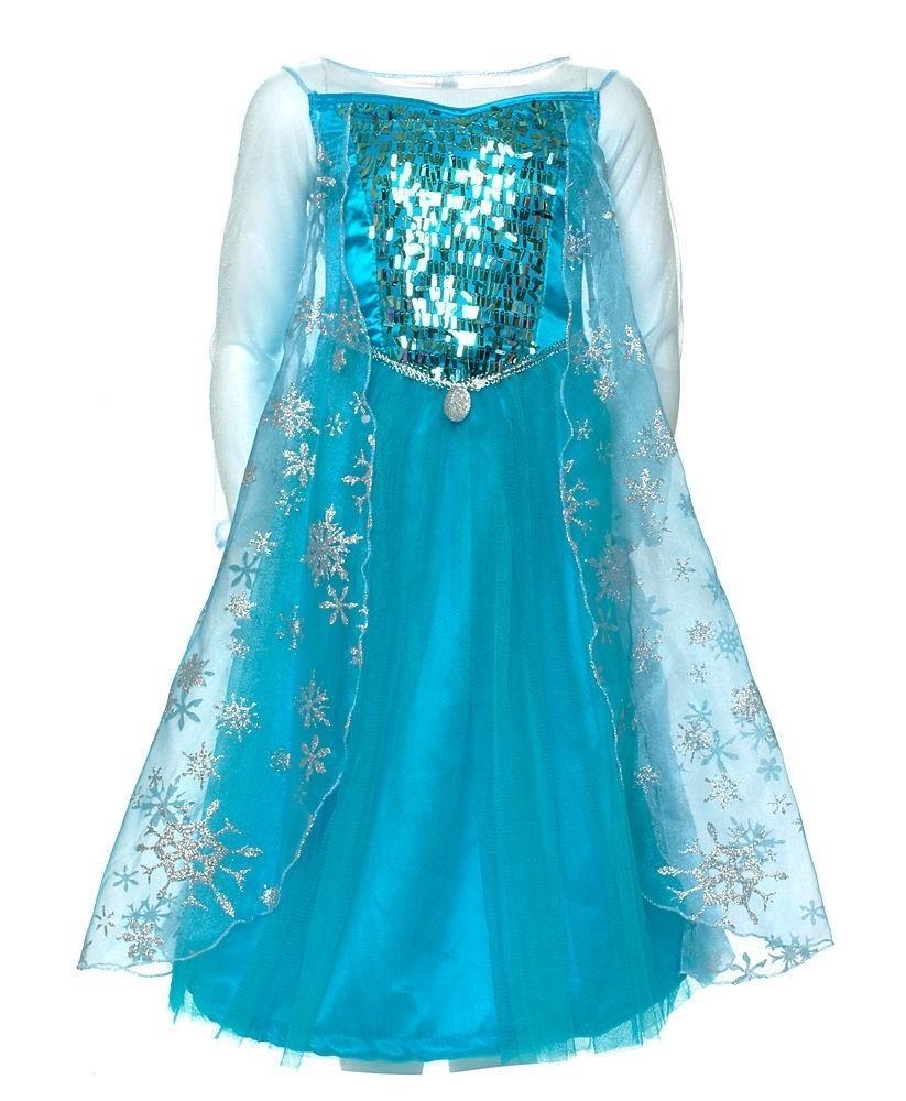 Платье Эльзы Фроузен с блестками (M)