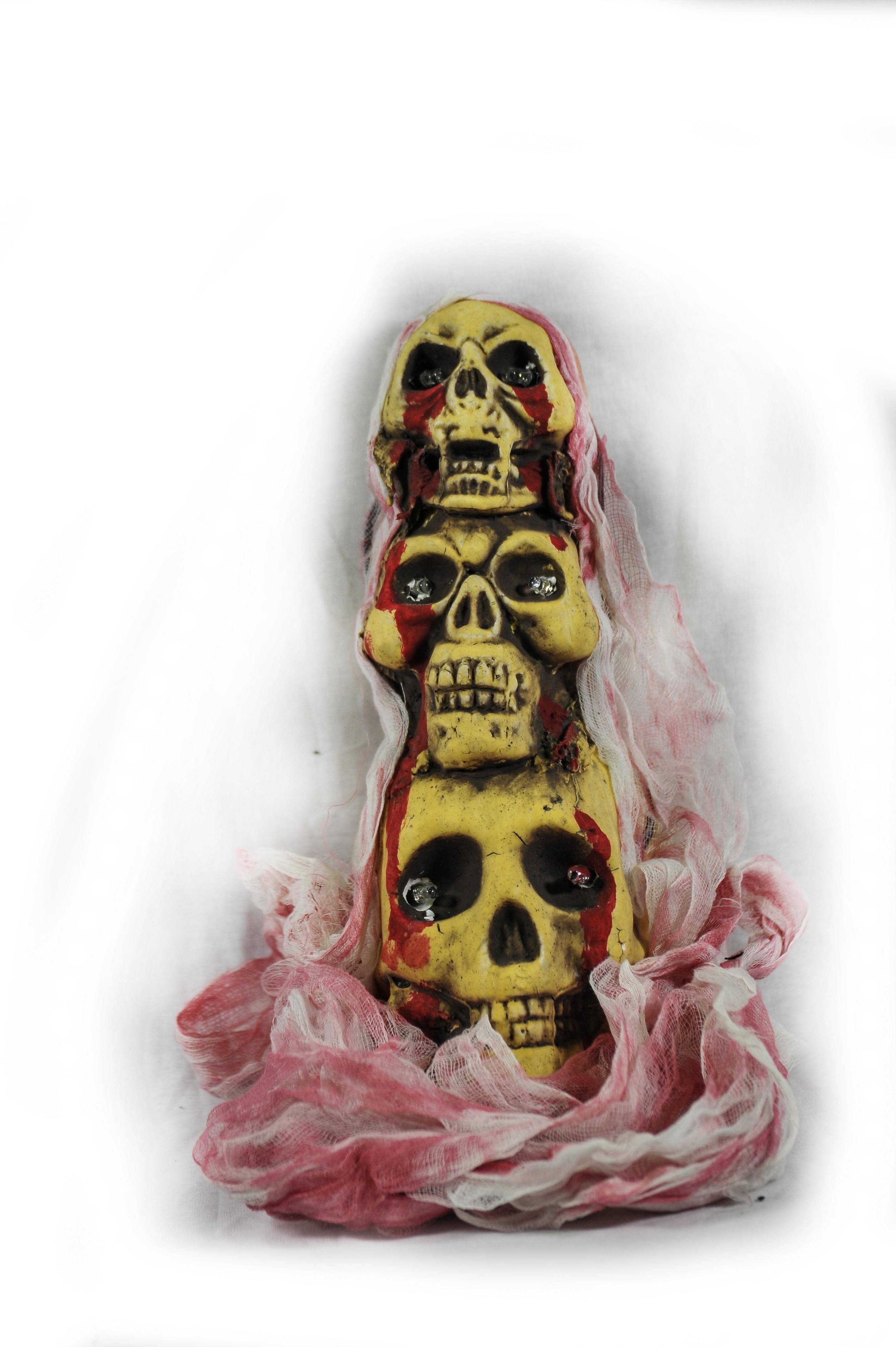 Декорация из черепов (UNI) маска черепа с рукой uni