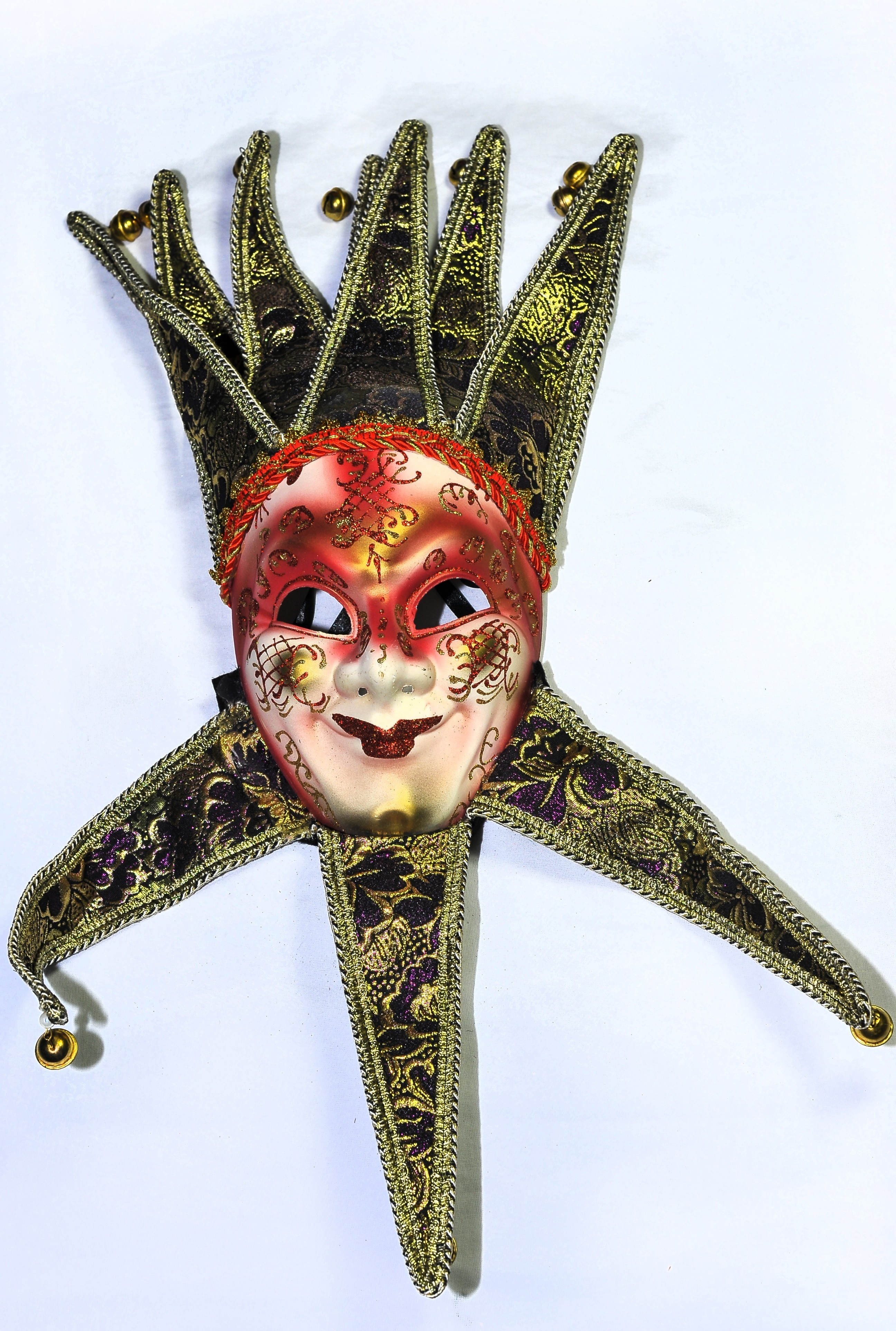 Венецианская маска красная - Карнавальные маски