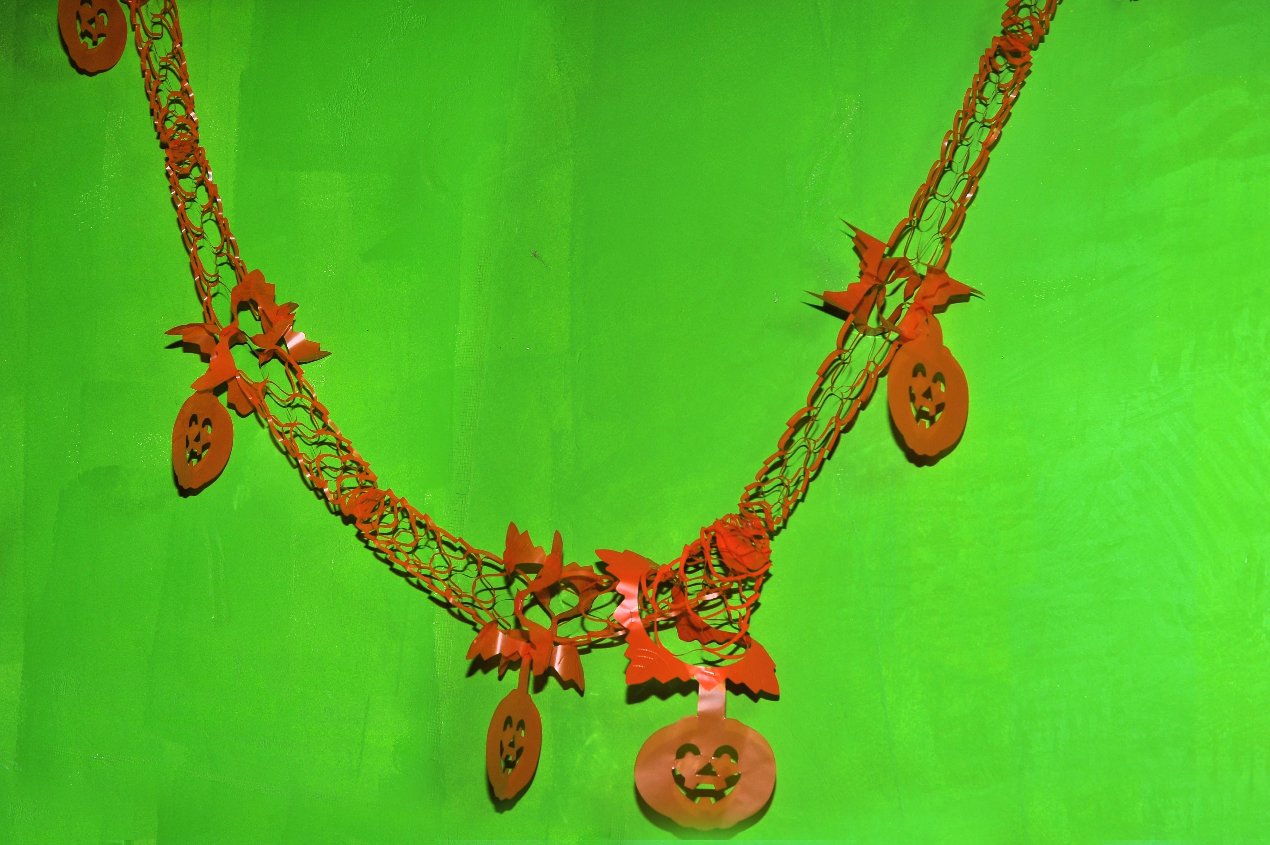 Оранжевая гирлянда Тыквы (UNI) розовая гирлянда с днем рождения uni