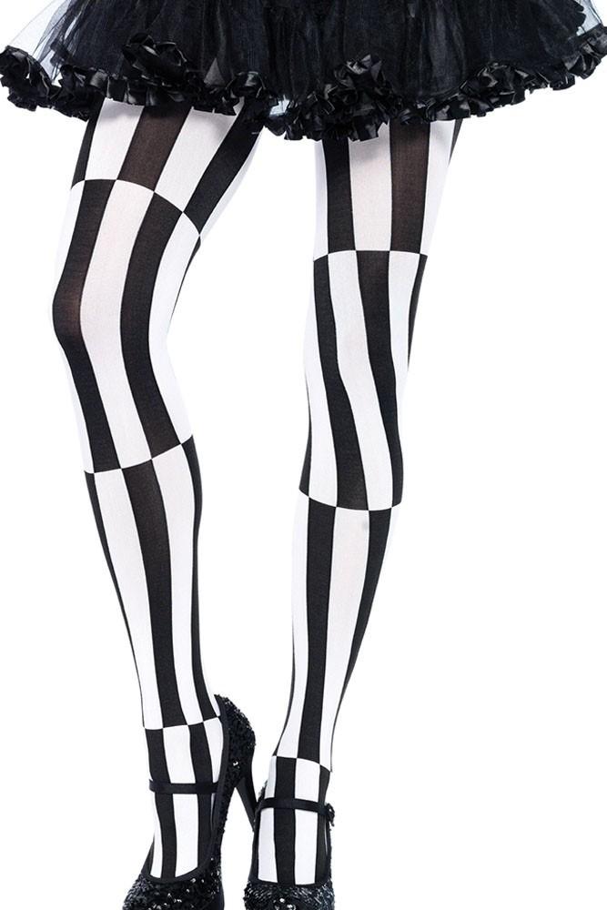 Черно-белые колготки Психоделик (42-44) пижама жен mia cara майка шорты botanical aw15 ubl lst 264 р 42 44 1119503
