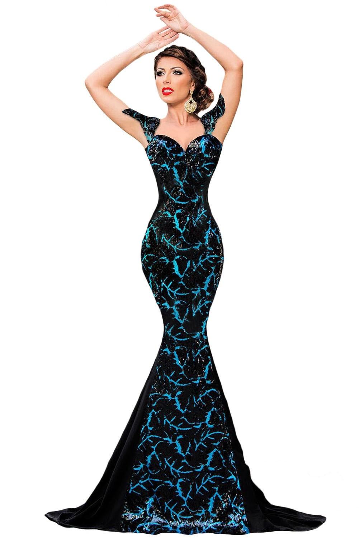 Элегантное платье русалочка (40-42) -  Коктейльные платья