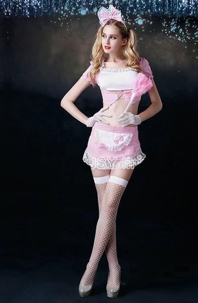 Розовый костюм горничной (46) костюм горничной shamika set s m