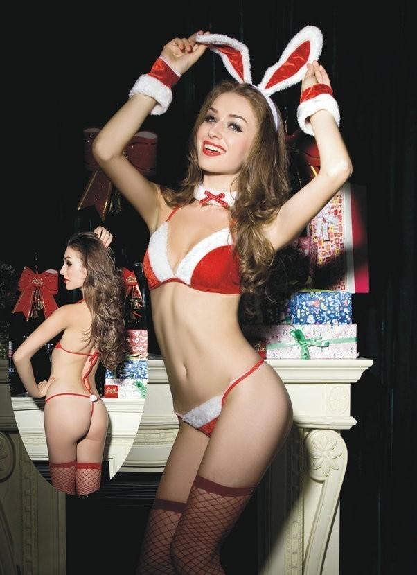 Комплект рождественского кролика (42-44) белые чулки с крестом 42 44