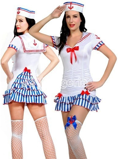 Белый костюм морячки милашки (44)