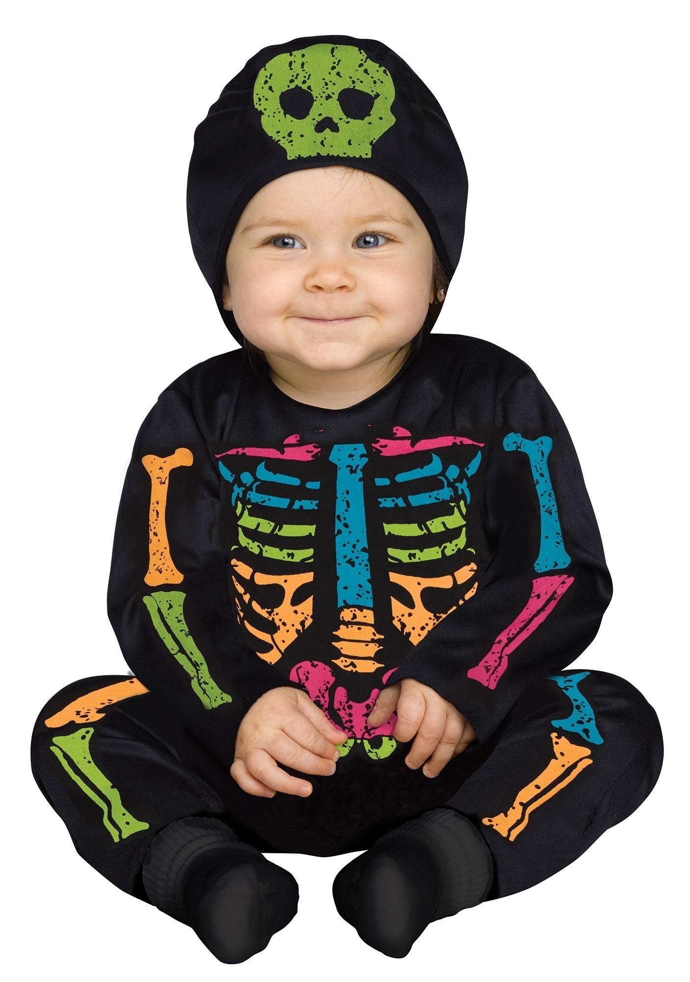 Костюм малыша-скелетона цветной (24-26) костюм пони 24 26