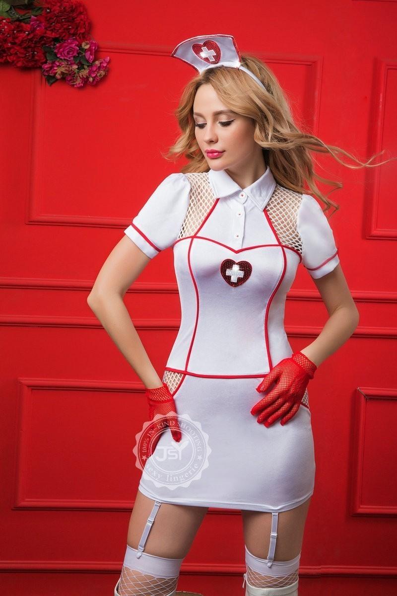 Изящный костюм медсестры (42-44) белые чулки с крестом 42 44