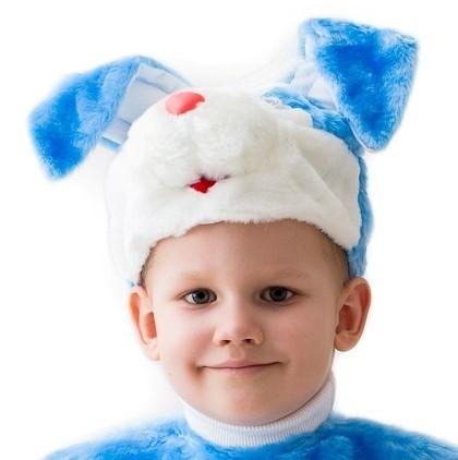 Голубая шапочка-маска кролик (UNI) -  Животные и зверушки