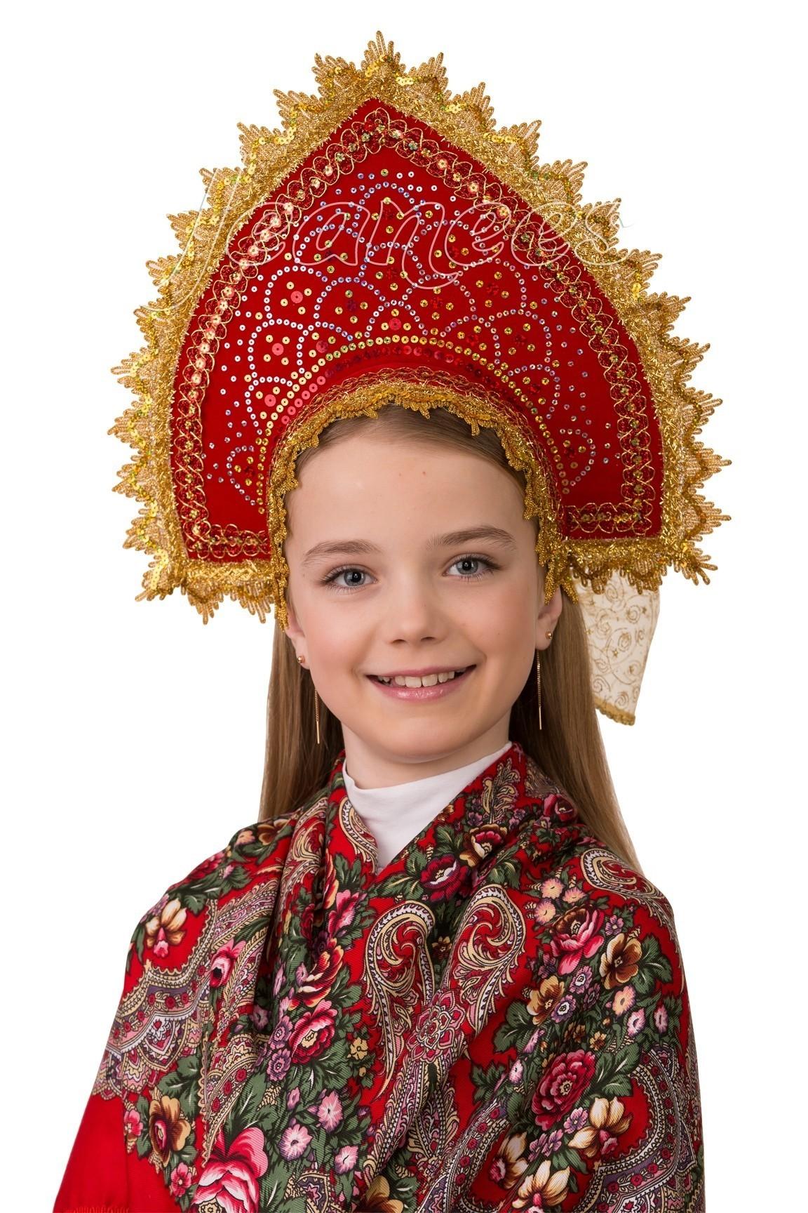 Детский кокошник Сказка лифчик для девочек 14 лет