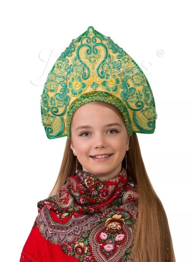 Детский кокошник Царица лифчик для девочек 14 лет