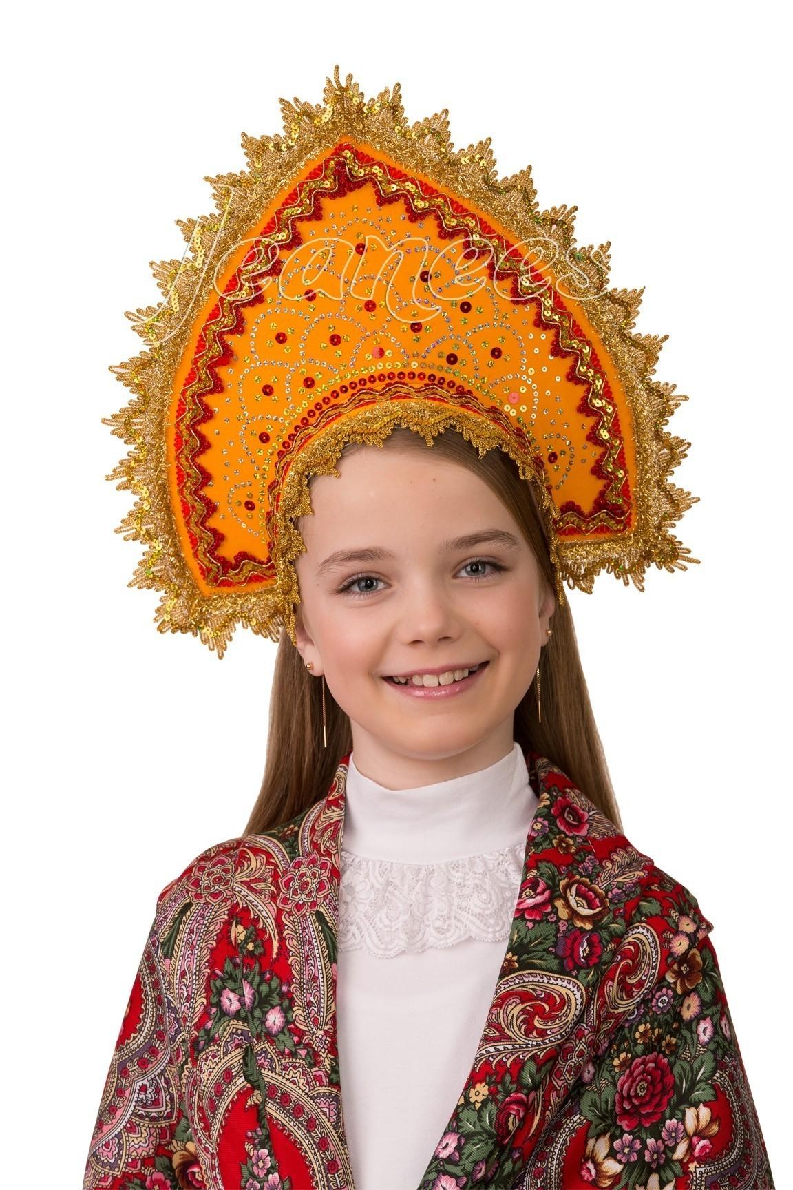 Янтарный детский кокошник лифчик для девочек 14 лет
