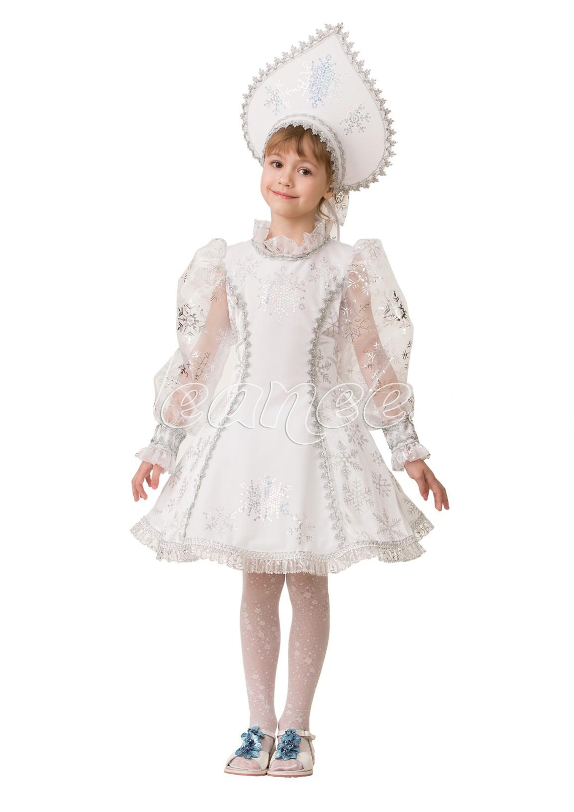 Изящный костюм Снегурочки (40) костюм снегурочки конфетки 40 44