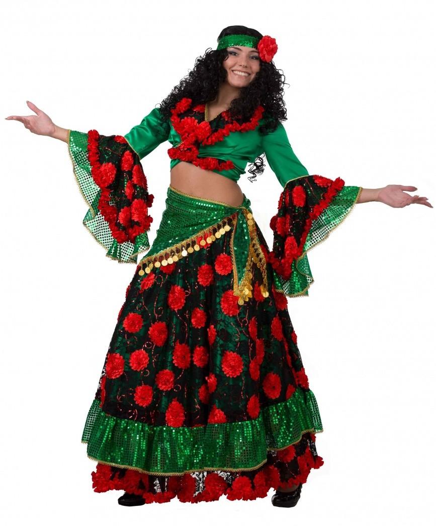 Красно-зеленый костюм цыганки (46) от Vkostume
