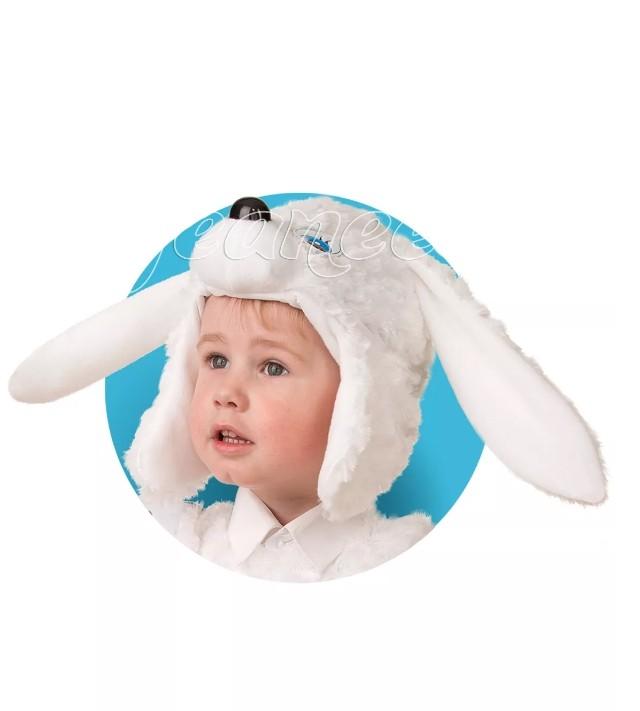 Меховая шапочка-маска Зайчонок (UNI) -  Животные и зверушки