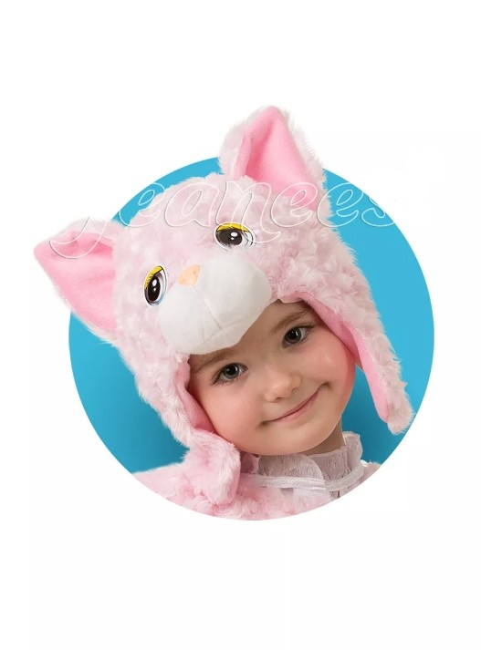 Розовая шапочка-маска Кошечка (UNI) плюшевая маска зайки uni