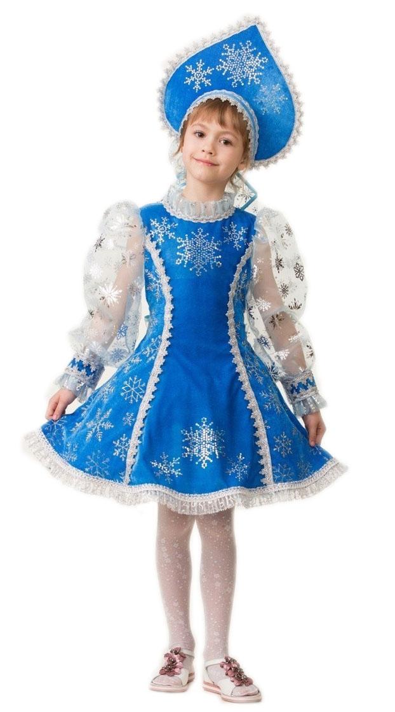 Синий костюм Снегурочки (28) костюм снегурочки конфетки 40 44