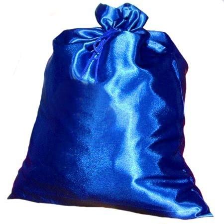 Синий сатиновый мешок Деда Мороза (UNI) детский костюм деда мороза голубой 38