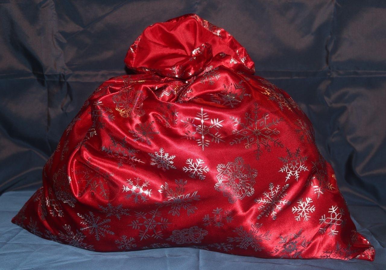 Красный мешок Деда Мороза со снежинками (UNI) -  Новогодние костюмы