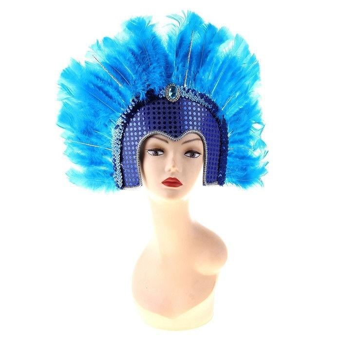 Голубой венецианский головной убор - Карнавальные маски