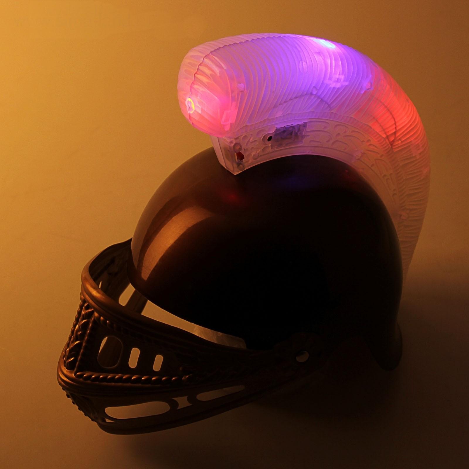 Спартанский светящийся шлем от Vkostume