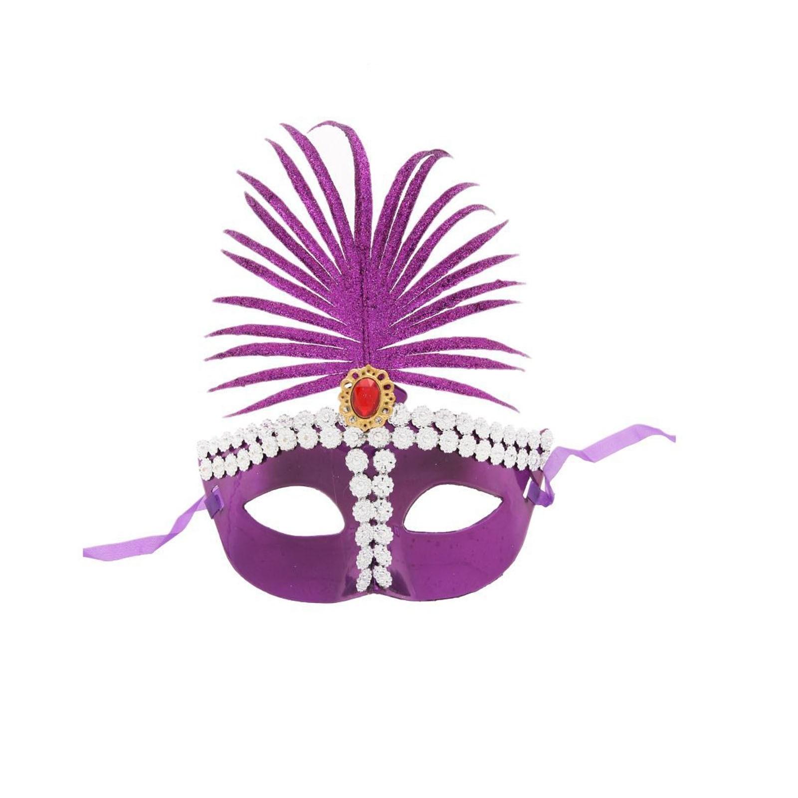 Фиолетовая сказочная маска (UNI) -  Карнавальные маски