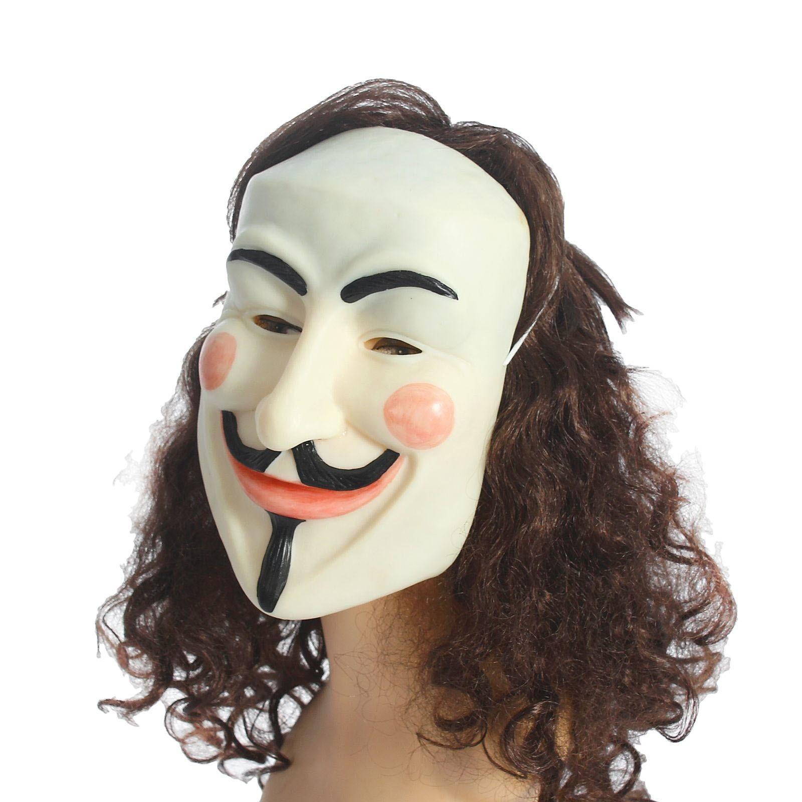 Латексная маска Анонимуса (UNI) плащ и маска штурмовик uni